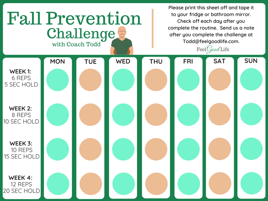 The 30 Day Fall Prevention Challenge for Seniors | Feel Good Life with Coach Todd