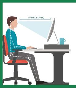 Desk Ergonomics - Monitor position