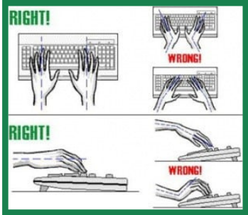 Desk Ergonomics - Keyboard Position
